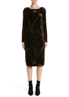 Lafayette 148 New York Loribel Golden Bloom Velvet Dress