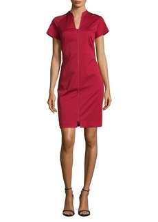 Lafayette 148 Lottie Splitneck Dress