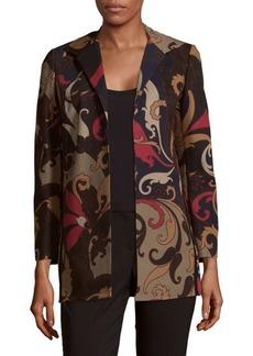 Lafayette 148 Luciana Multicolored Printed Blazer