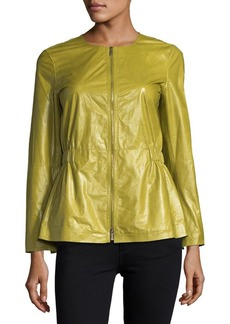 Lafayette 148 Lucina Lacquered Lambskin Jacket
