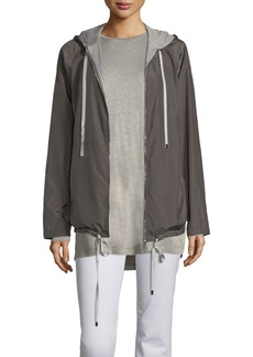 Lafayette 148 New York Luke Hooded Jacket with Jersey Combo