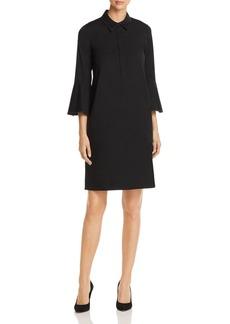 Lafayette 148 New York Lunella Contrast-Stitch Shirt Dress