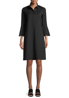 Lafayette 148 Lunella Stretch-Cotton Shirt Dress