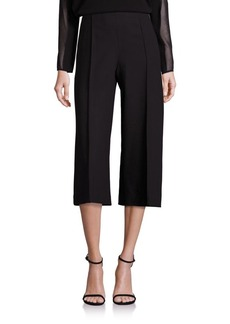 Lafayette 148 New York Luxe Italian Double Face Thompkins Culottes