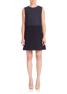 Lafayette 148 New York Luxe Italian Double Face Vilma Dress