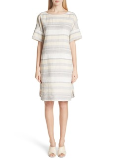 Lafayette 148 New York Lydia Stripe Linen Dress