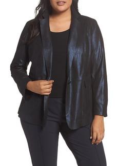Lafayette 148 New York Lyndon Metallic Leather Blazer (Plus Size)