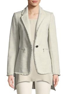 Lafayette 148 Lyndon Morning Dew Tweed Jacket