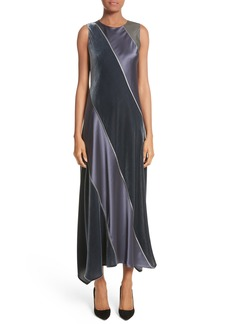 Lafayette 148 New York Madelia Velvet & Satin Midi Dress