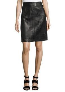 Lafayette 148 New York Madeline Laser-Cut Skirt
