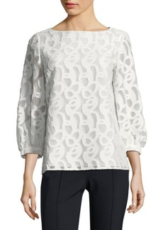 Lafayette 148 Madelyn Jacquard Blouse
