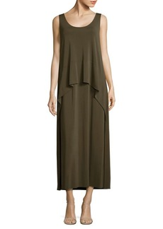 Lafayette 148 New York Madina Layered Crepe Maxi Dress