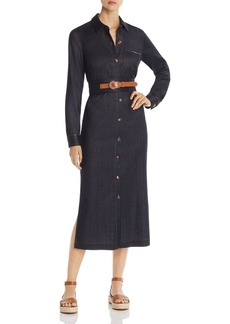 Lafayette 148 New York Madra Denim Midi Shirt Dress