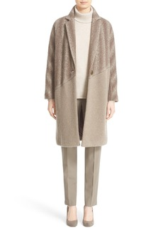 Lafayette 148 New York 'Magnolia' Ombré Herringbone Coat