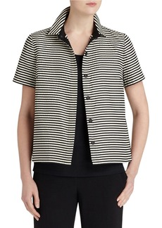 LAFAYETTE 148 NEW YORK Maisie Striped Blouse