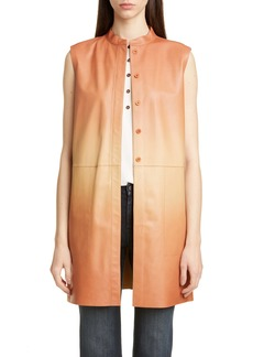 Lafayette 148 New York Malva Ombré Leather Vest