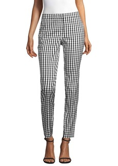 Manhattan Check Slim-Fit Pants