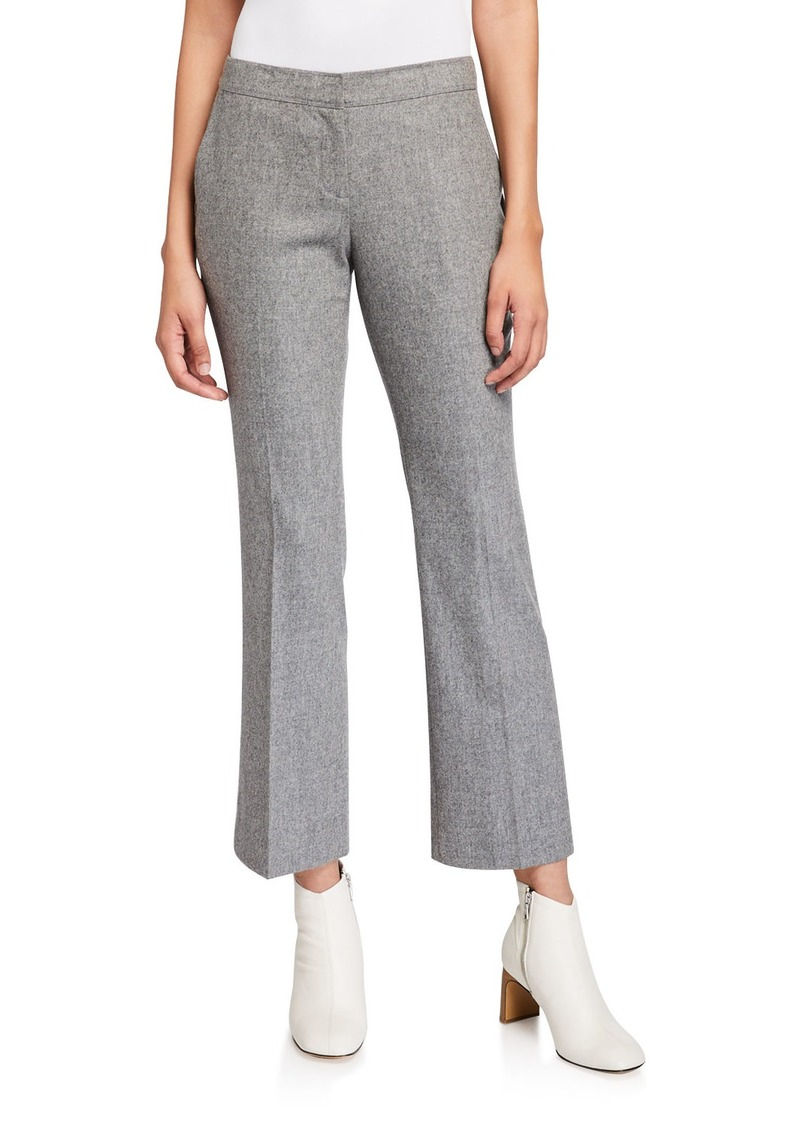 Lafayette 148 New York Manhattan Finite Italian Flannel Cropped Flare Pants