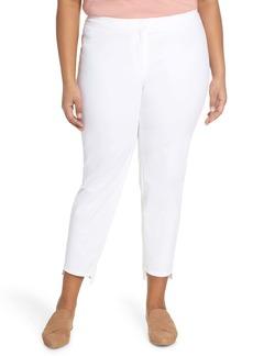 Lafayette 148 New York Manhattan Fundamental Step Hem Slim Pants (Plus Size)