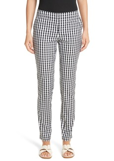 Lafayette 148 New York Manhattan Gingham Slim Pants
