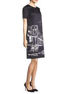 Manhattan Nightscape Giuliana Sheath Dress
