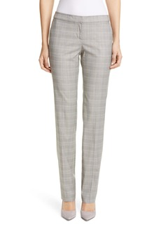 Lafayette 148 New York Manhattan Plaid Stretch Wool Blend Pants