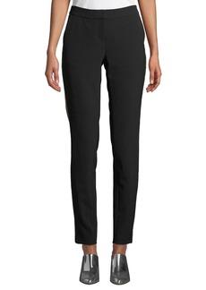 Lafayette 148 New York Manhattan Sleek Tech Cloth Pants with Beaded Seam