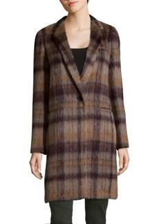 Marabela Alpaca Wool Plaid Coat