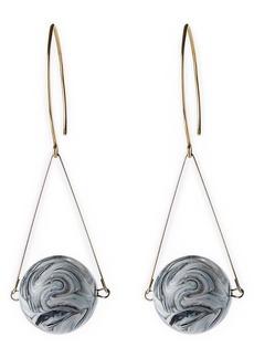 Lafayette 148 New York Marbled Drop Circle Earrings