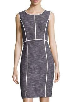Lafayette 148 New York Mariana Grid-Print Sheath Dress
