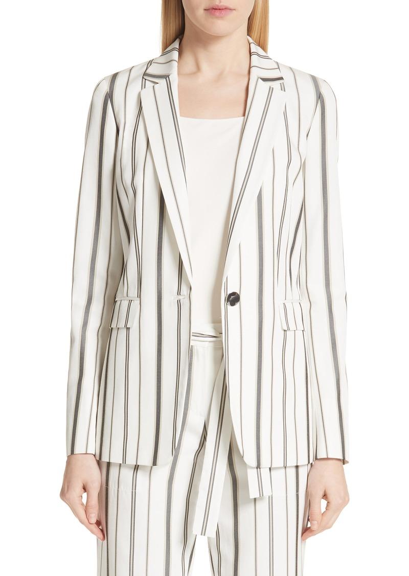 Lafayette 148 New York Marie Stripe Silk Blend Blazer
