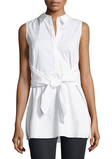 Lafayette 148 Mariel Stretch-Shirting Blouse