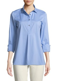 Lafayette 148 New York Mariette Excursion Stretch Blouse