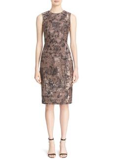 Lafayette 148 New York 'Marilyn' Jacquard Sheath Dress