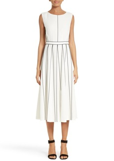 Lafayette 148 New York Mariposa Finesse Crepe Dress