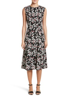 Lafayette 148 New York Marley Fresh Floral Drape Cloth Dress