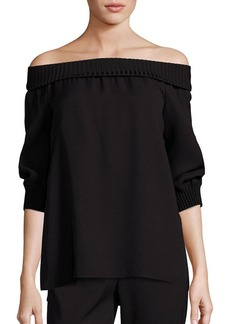 Lafayette 148 New York Marlo Silk Off-The-Shoulder Blouse