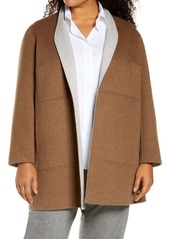 Lafayette 148 New York Marlow Reversible Wool & Cashmere Jacket (Plus Size)