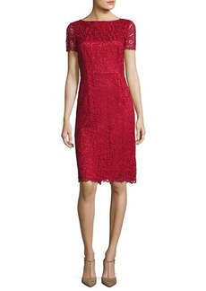 Lafayette 148 New York Marquis Short-Sleeve Lace Dress