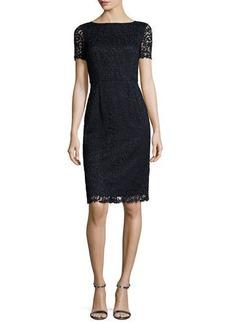 Lafayette 148 New York Marquis Short-Sleeve Lace Dress