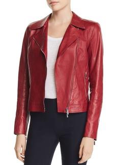 Lafayette 148 New York Mary-Kate Leather Moto Jacket