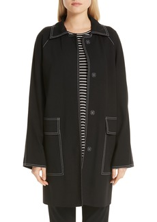 Lafayette 148 New York Maryann Topstitch Car Coat