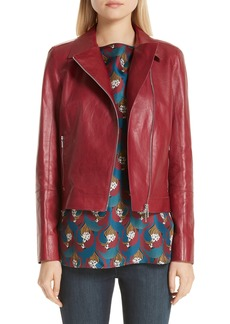 Lafayette 148 New York Marykate Leather Moto Jacket