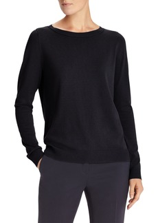 Lafayette 148 New York Matte Crepe Crewneck Sweater