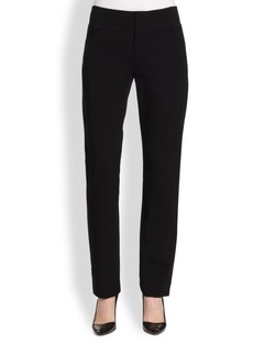 Lafayette 148 New York Matte-Jersey Straight-Leg Trousers