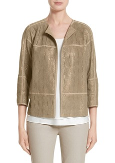 Lafayette 148 New York Maureen Lambskin Leather Jacket (Nordstrom Exclusive)