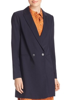 Lafayette 148 New York Maverick Long Double-Breasted Blazer