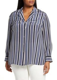 Lafayette 148 New York Maximina Stripe Silk Shirt