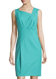 Lafayette 148 New York Melanie Pleated Sleeveless Sheath Dress