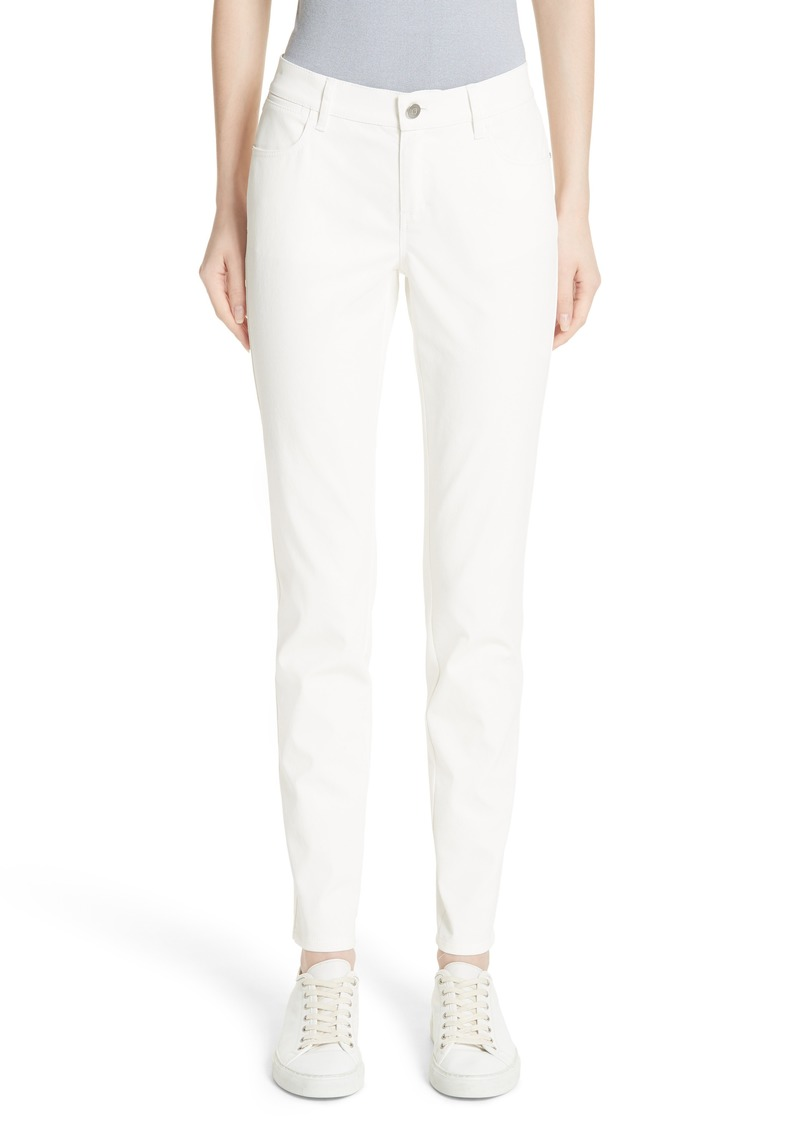 Lafayette 148 New York Mercer Coated Skinny Jeans